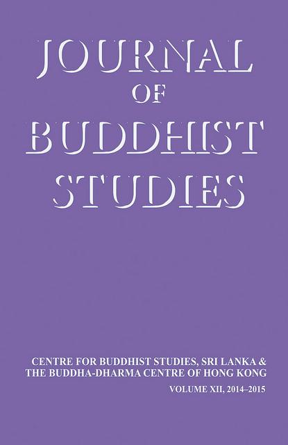 Journal of Buddhist Studies (Vol. XII, 2014–2015)